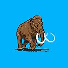 Prehistoric Pixels - Mammoth by SevenHundred
