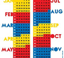 "2015 Calendar. Color blocks. ""This is my year!"". by FridayEveryDay"