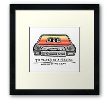 Awesome Mix Vol 1 Cassette Tape (Guardians of the Galaxy) Framed Print