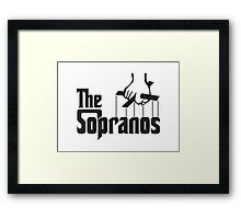 The Sopranos Logo (The Godfather mashup) (Black) Framed Print