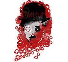 Charlie Chaplin Modern Times Machine Photographic Print