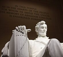 Lincoln Statue  by Hanna Madbak