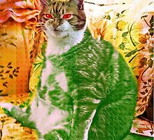 Funny Sitting Cat by Leocats