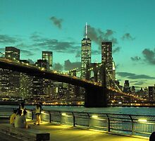 Brooklyn Bridge and Manhattan by henuly1