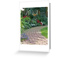 Garden Brick Walk Greeting Card