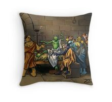 All I Know Is That I Am Green Throw Pillow
