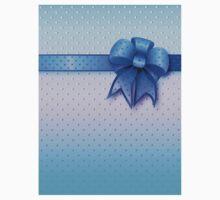 Blue Present Bow Kids Clothes