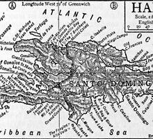 Vintage Map of Haiti (1911) by BravuraMedia