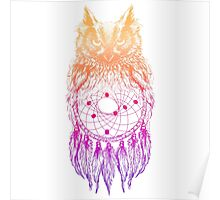Dreamy Owl_Multi Pink Poster