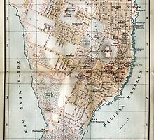 Vintage Map of Halifax Nova Scotia (1890)  by BravuraMedia