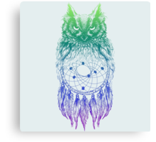 Dreamy Owl_Multi Blue Canvas Print