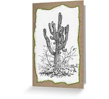 A Giant Saguaro Cactus of Southern Arizona * Greeting Card