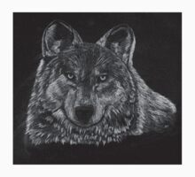 Lone Wolf Scratch Art T-Shirt