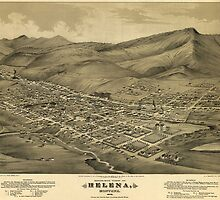 Vintage Pictorial Map of Helena Montana (1875)  by BravuraMedia
