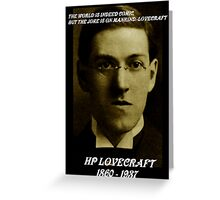 HP LOVECRAFT MEMORY Greeting Card