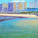 The Round Pool, Newcastle Beach, NSW, Australia by Carole Elliott
