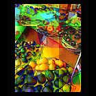 From Grandmas' Kitchen - Colorful Fruit Collage by Miriam Danar