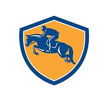 Equestrian Show Jumping Side Shield Retro by patrimonio