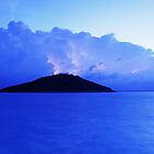 Lightning at dawn over Veli and Mali Osir islands  by Ian Middleton
