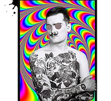 Psychedelic Oldschool Hypnotic Tatooed Guy  by changetheworld