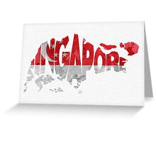 Singapore Typographic Map Flag Greeting Card
