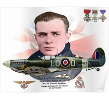 Sqn. Ldr. Pierre Clostermann Poster