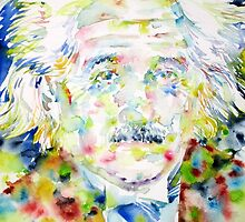 ALBERT EINSTEIN - watercolor portrait.1 by lautir