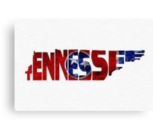 Tennessee Typographic Map Flag Canvas Print