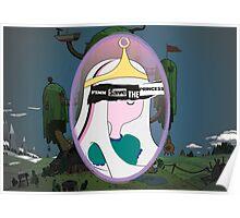 Finn Saves The (Bubblegum) Princess Poster