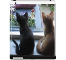 Looking out the window iPad Case/Skin