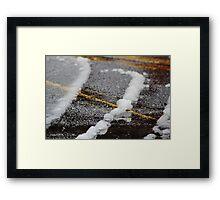 Remnants of a Spring Snow Framed Print