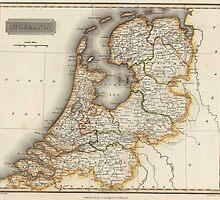 Vintage Map of Holland (1817)  by BravuraMedia