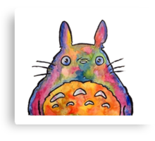 Cute Colorful Totoro! Tshirts + more! Canvas Print