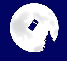 Tardis & Moon - E.T Inspired Design by Mellark90