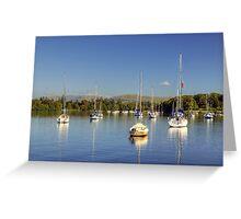 Yachts At Ferry Nab Greeting Card