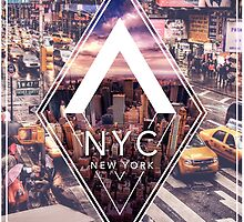 NYC Town That Never Sleeps Taxi by changetheworld