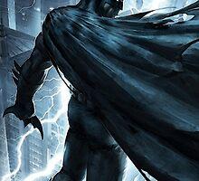Batman protecting Arkham - Dark Knight by Mellark90