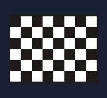Checkered flag, Racing Cars, Plain & Simple, BLACK by TOM HILL - Designer