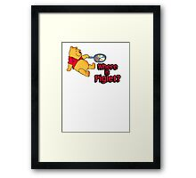 Where is Piglet? Winnie frying bacon. Framed Print