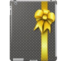 Gold Present Bow iPad Case/Skin