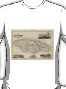 Vintage Map of Jamaica (1851) T-Shirt