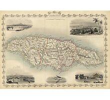 Vintage Map of Jamaica (1851) Photographic Print
