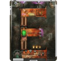 Steampunk - Alphabet - E is for Electricty iPad Case/Skin