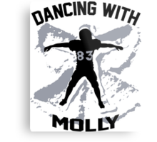 Wes Welker - Dancing With Molly - Denver Broncos Metal Print