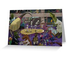 Cartoon Dinosaur Museum Greeting Card
