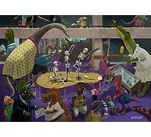 Cartoon Dinosaur Museum Photographic Print