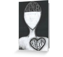 Ravenclaw Mind, Slytherin Heart Greeting Card