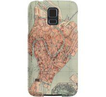Vintage Map of Venice Italy (1920) Samsung Galaxy Case/Skin