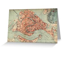 Vintage Map of Venice Italy (1920) Greeting Card