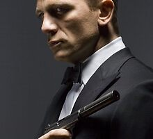 Daniel Craig as James Bond by violetraymedia